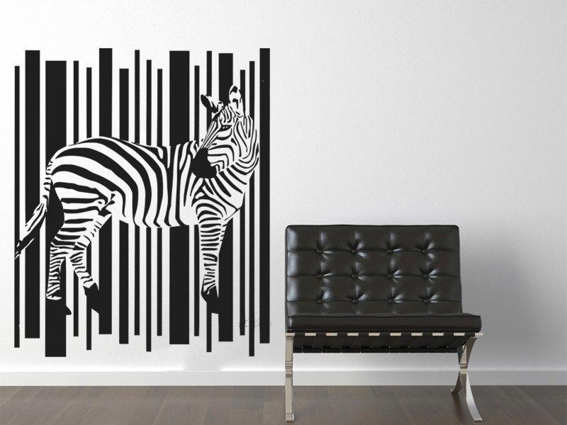 Samolepky na zeď Zebra 006 - Samolepící dekorace a nálepka na stěnu