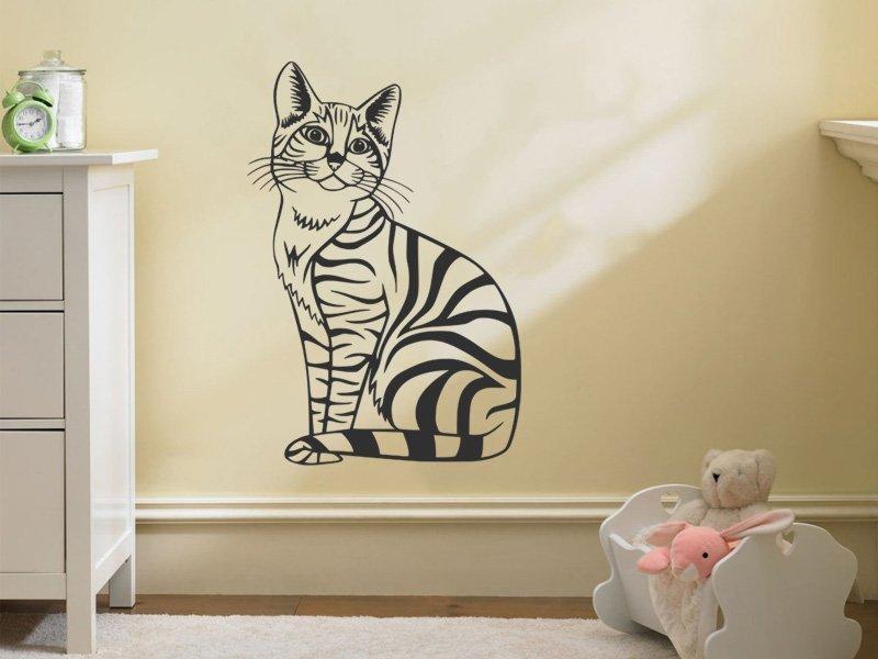 Samolepky na zeď Kočka 003 - Samolepící dekorace a nálepka na stěnu