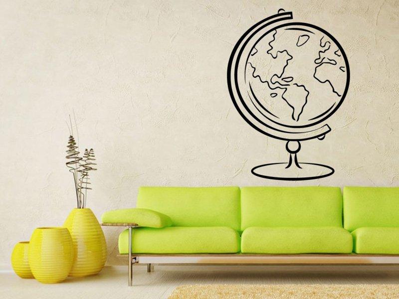 Samolepky na zeď Svět 003 - Samolepící dekorace a nálepka na stěnu