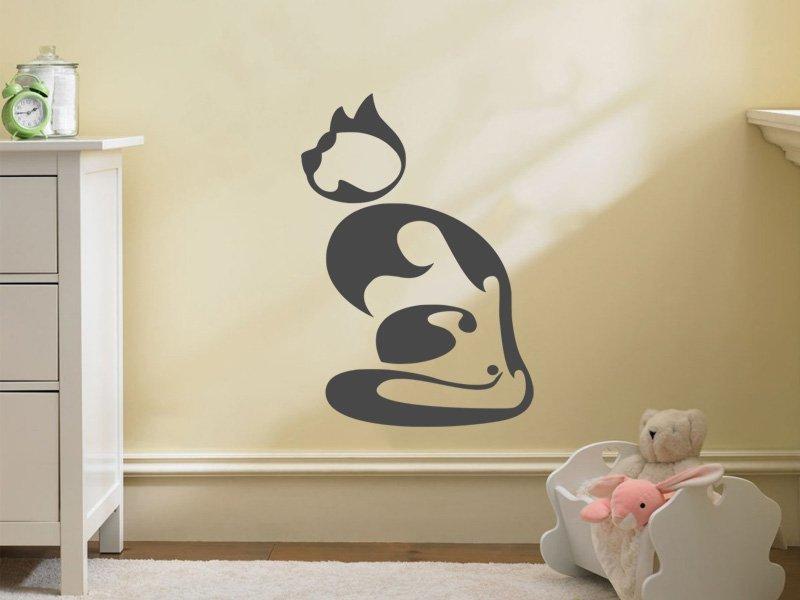 Samolepky na zeď Kočička 003 - Samolepící dekorace a nálepka na stěnu