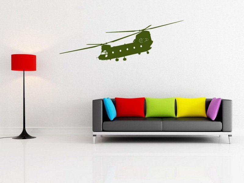 Samolepky na zeď Helikoptéra 001 - Samolepící dekorace a nálepka na stěnu