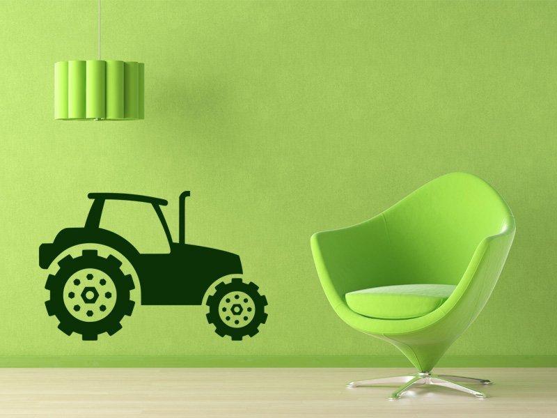 Samolepky na zeď Traktor 002 - Samolepící dekorace a nálepka na stěnu