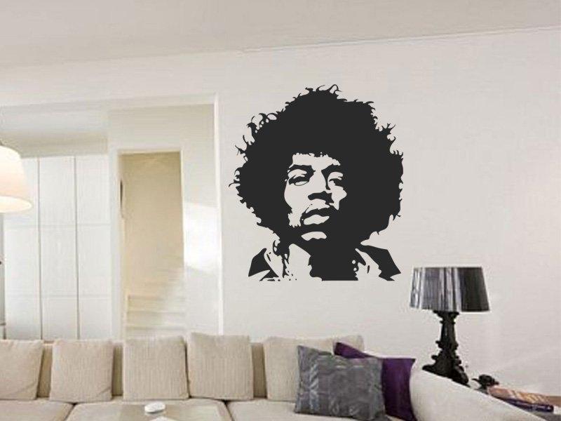 Samolepky na zeď Jimmy Hendrix 001 - Samolepící dekorace a nálepka na stěnu