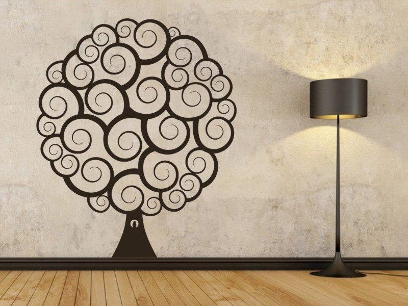 Samolepky na zeď Strom 0232 - Samolepící dekorace a nálepka na stěnu