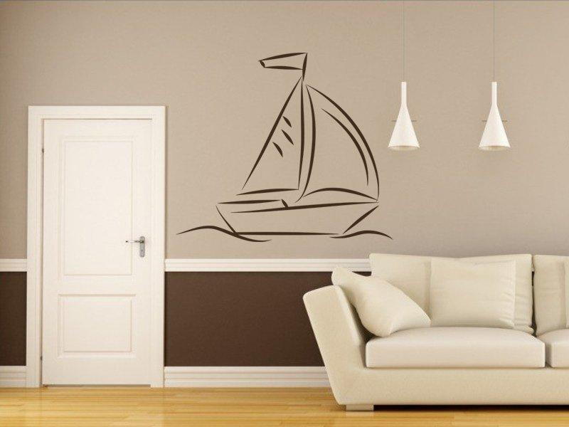 Samolepky na zeď Plachetnice 009 - Samolepící dekorace a nálepka na stěnu