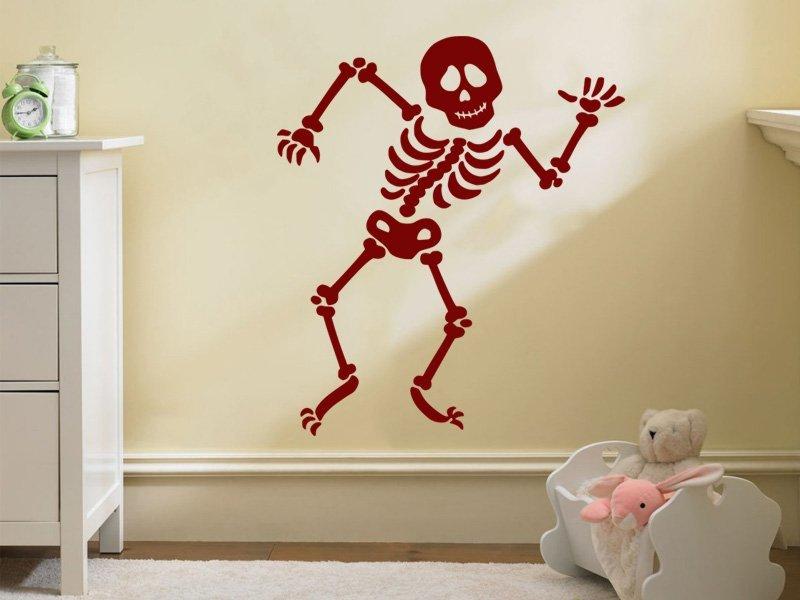 Samolepky na zeď Tančící kostra 001 - Samolepící dekorace a nálepka na stěnu
