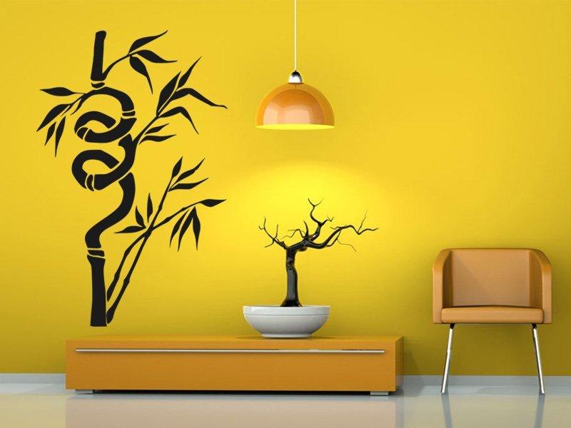 Samolepky na zeď Bambus 007 - Samolepící dekorace a nálepka na stěnu