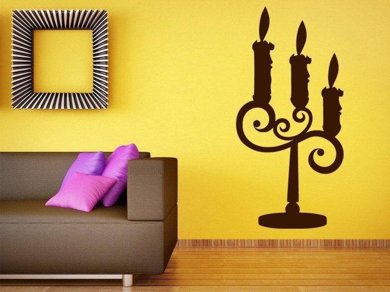 Samolepky na zeď Svícen 0026 - Samolepící dekorace a nálepka na stěnu