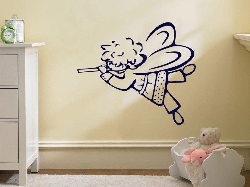 Samolepky na zeď Andílek 004 - Samolepící dekorace a nálepka na stěnu