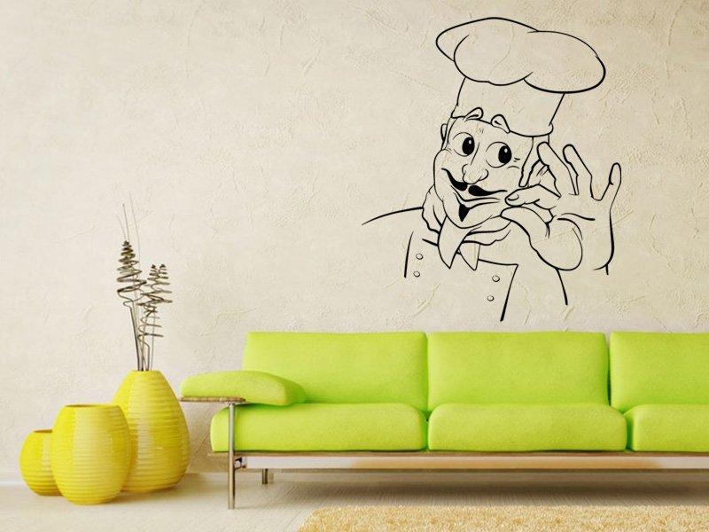 Samolepky na zeď Kuchař 0136 - Samolepící dekorace a nálepka na stěnu