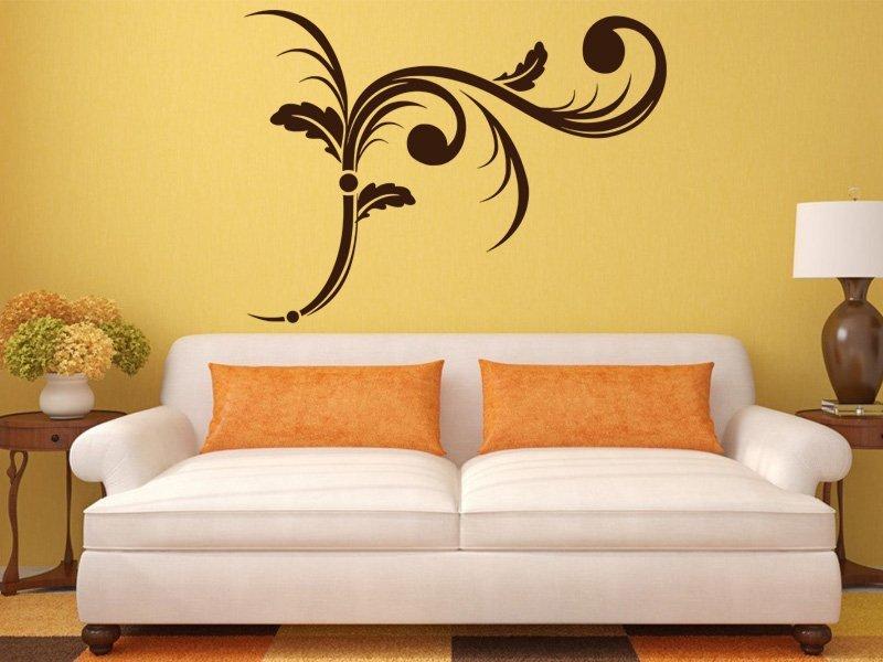 Samolepky na zeď Ornamenty z rostlin 006 - Samolepící dekorace a nálepka na stěnu