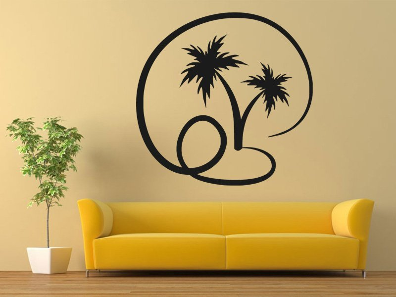 Samolepky na zeď Palmy 008 - Samolepící dekorace a nálepka na stěnu