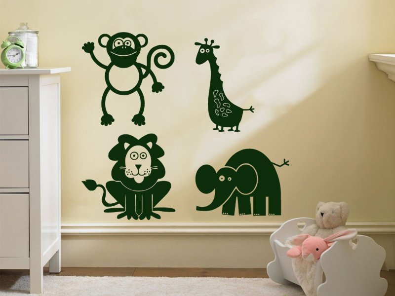 Samolepky na zeď Zvířátka 003 - Samolepící dekorace a nálepka na stěnu