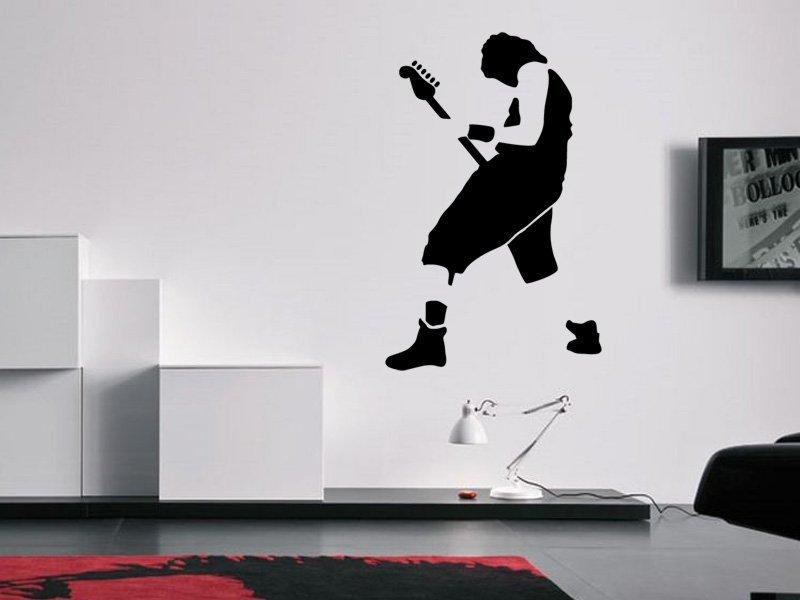 Samolepky na zeď Kytarista 003 - Samolepící dekorace a nálepka na stěnu