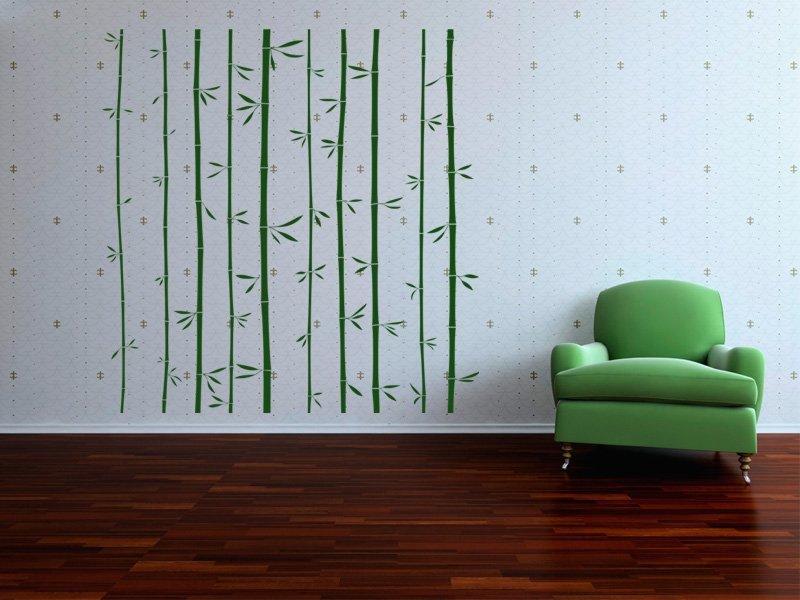 Samolepky na zeď Bambus 011 - Samolepící dekorace a nálepka na stěnu