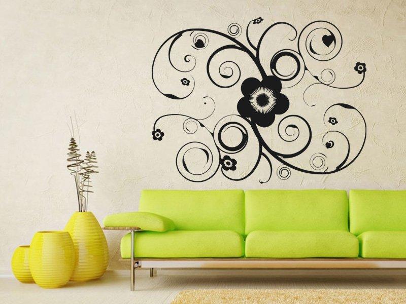Samolepky na zeď Ornamenty z rostlin 028 - Samolepící dekorace a nálepka na stěnu