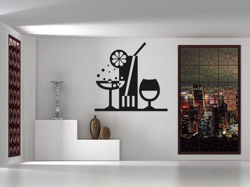 Samolepky na zeď Drinky 001 - Samolepící dekorace a nálepka na stěnu