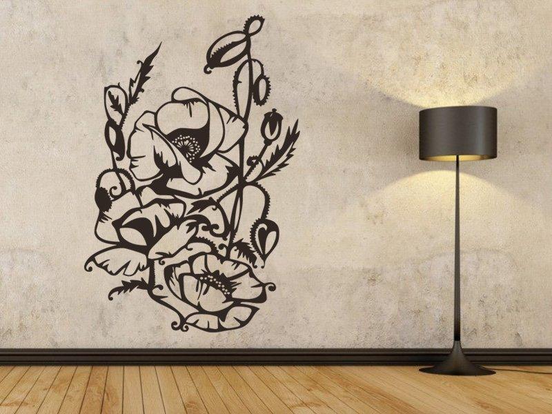 Samolepky na zeď Rostlina 017 - Samolepící dekorace a nálepka na stěnu