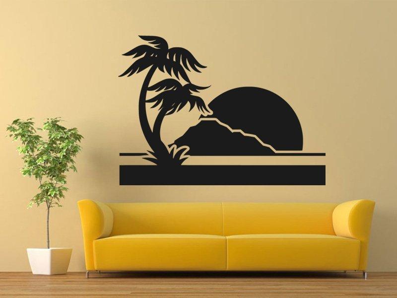 Samolepky na zeď Palmy 0303 - Samolepící dekorace a nálepka na stěnu