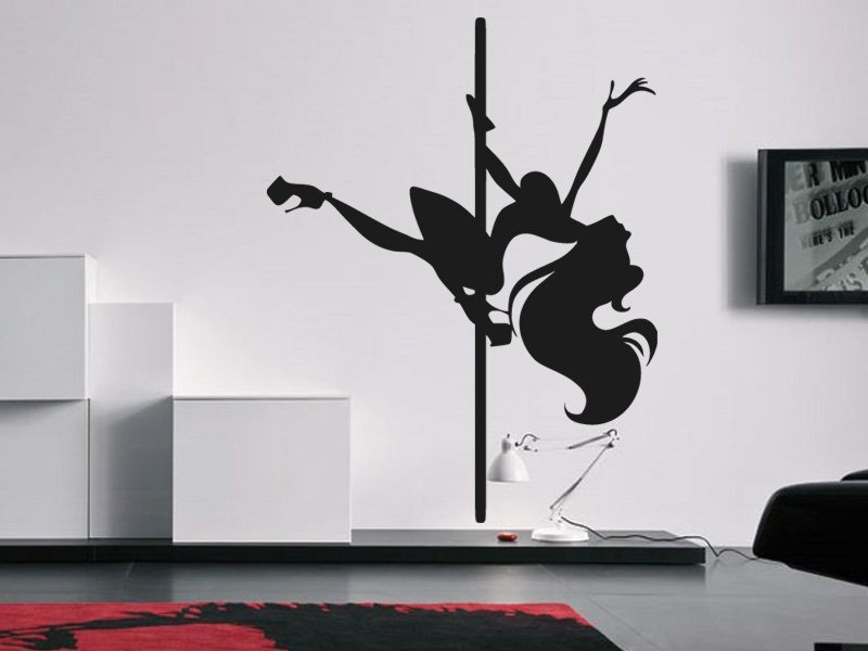 Samolepky na zeď Pole dance 0978 - Samolepící dekorace a nálepka na stěnu