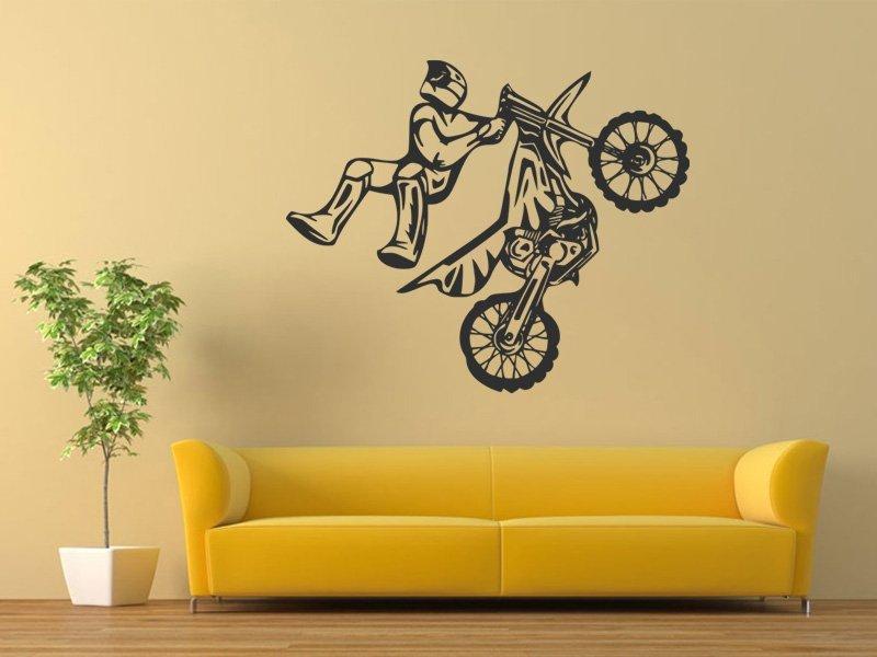 Samolepky na zeď Motorka 012 - Samolepící dekorace a nálepka na stěnu