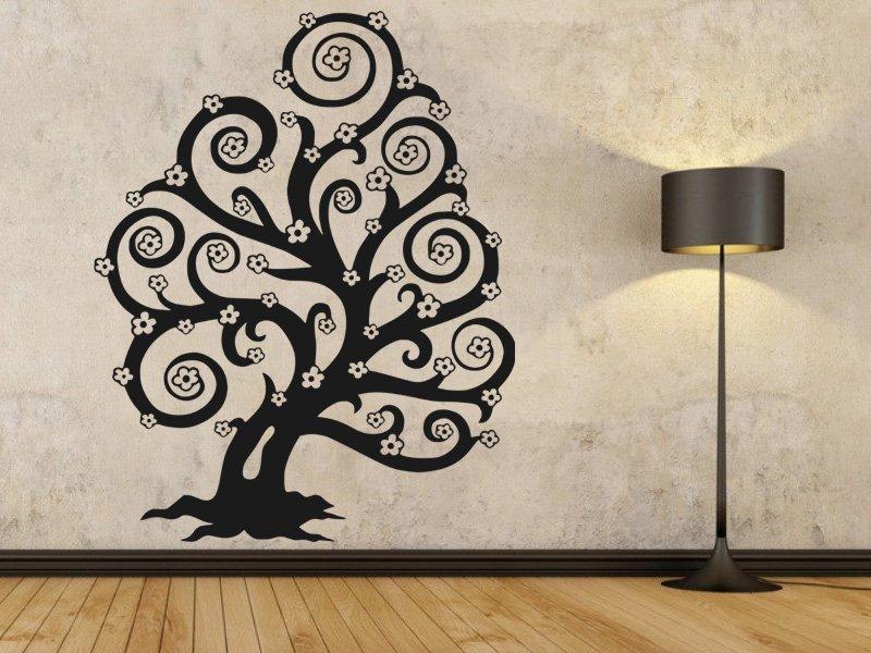Samolepky na zeď Strom 014 - Samolepící dekorace a nálepka na stěnu