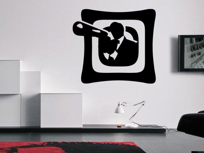 Samolepky na zeď Gangster 001 - Samolepící dekorace a nálepka na stěnu