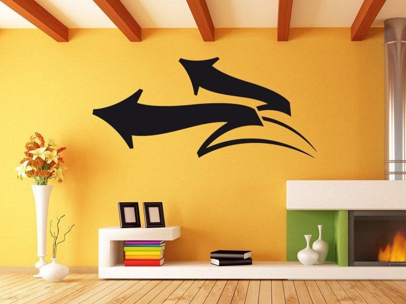 Samolepky na zeď Šipka 007 - Samolepící dekorace a nálepka na stěnu