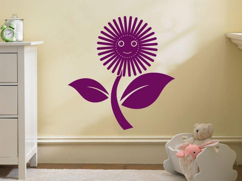 Samolepky na zeď Květiny 047 - Samolepící dekorace a nálepka na stěnu