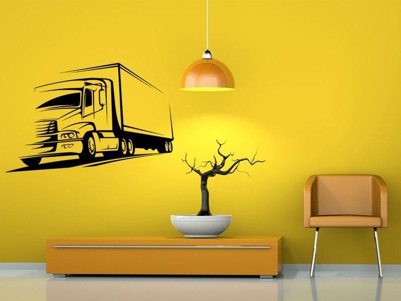 Samolepky na zeď Kamion 002 - Samolepící dekorace a nálepka na stěnu