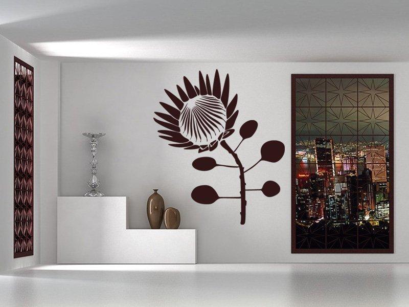 Samolepky na zeď Květiny 013 - Samolepící dekorace a nálepka na stěnu