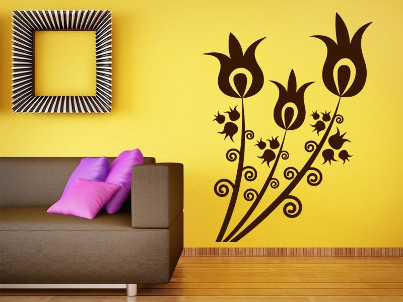 Samolepky na zeď Květiny 032 - Samolepící dekorace a nálepka na stěnu