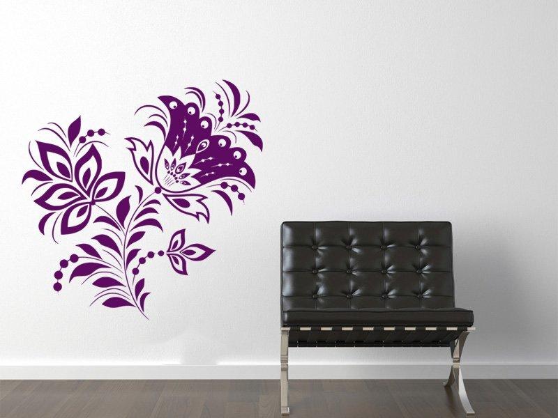 Samolepky na zeď Květiny 040