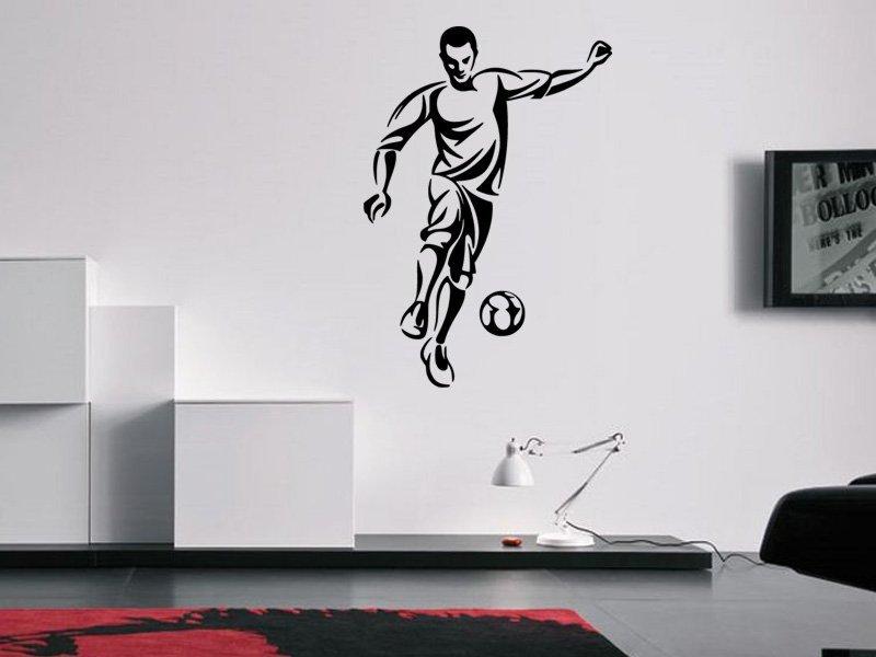Samolepky na zeď Fotbalista 0582 - Samolepící dekorace a nálepka na stěnu