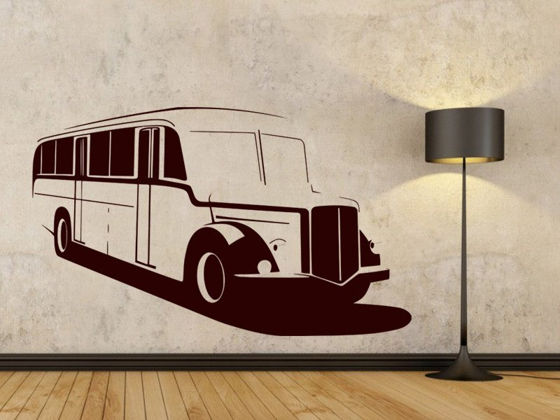 Samolepky na zeď Autobus 002 - Samolepící dekorace a nálepka na stěnu