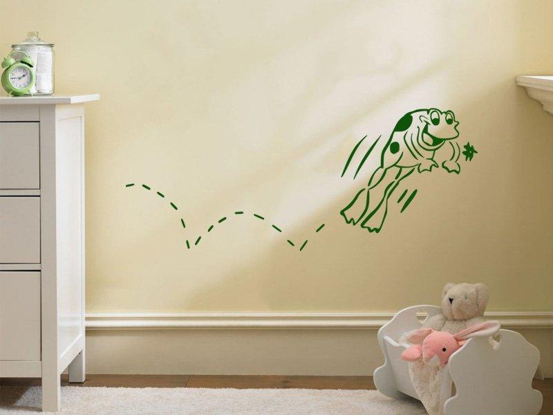 Samolepky na zeď Žabička 001 - Samolepící dekorace a nálepka na stěnu