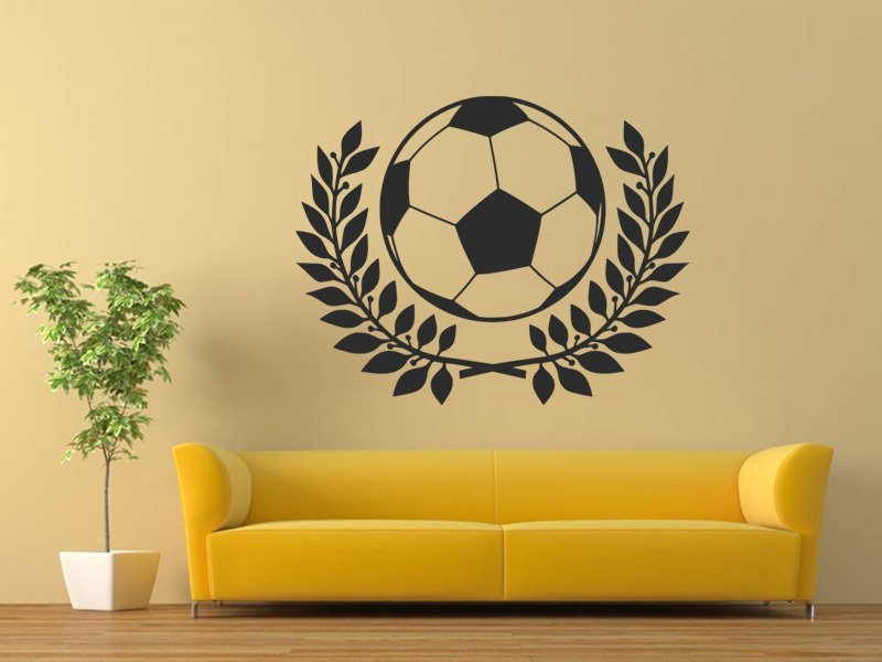 Samolepky na zeď Fotbalový míč 002 - Samolepící dekorace a nálepka na stěnu