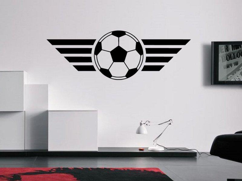 Samolepky na zeď Fotbalový míč 004 - Samolepící dekorace a nálepka na stěnu