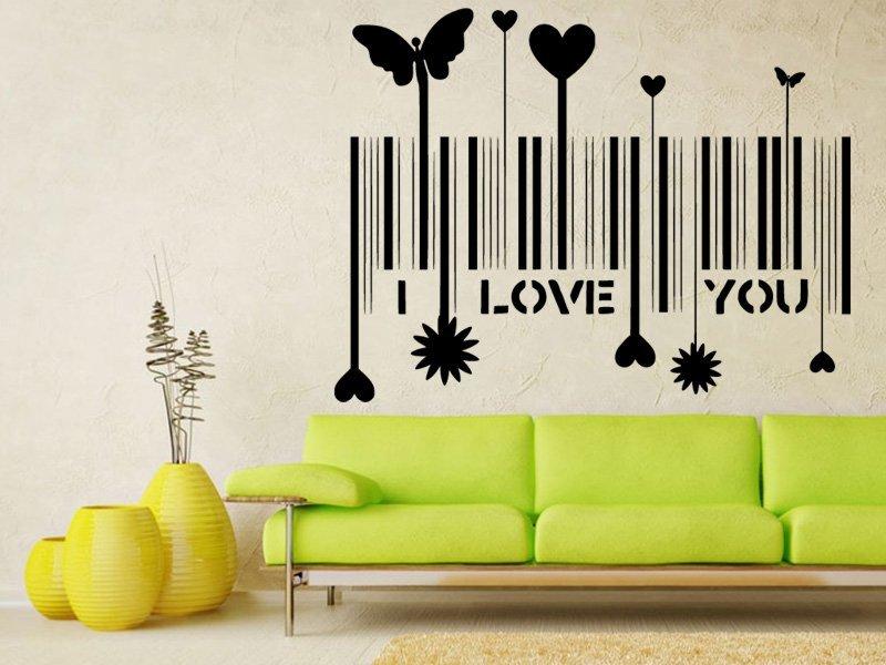 Samolepky na zeď I love you 001 - Samolepící dekorace a nálepka na stěnu