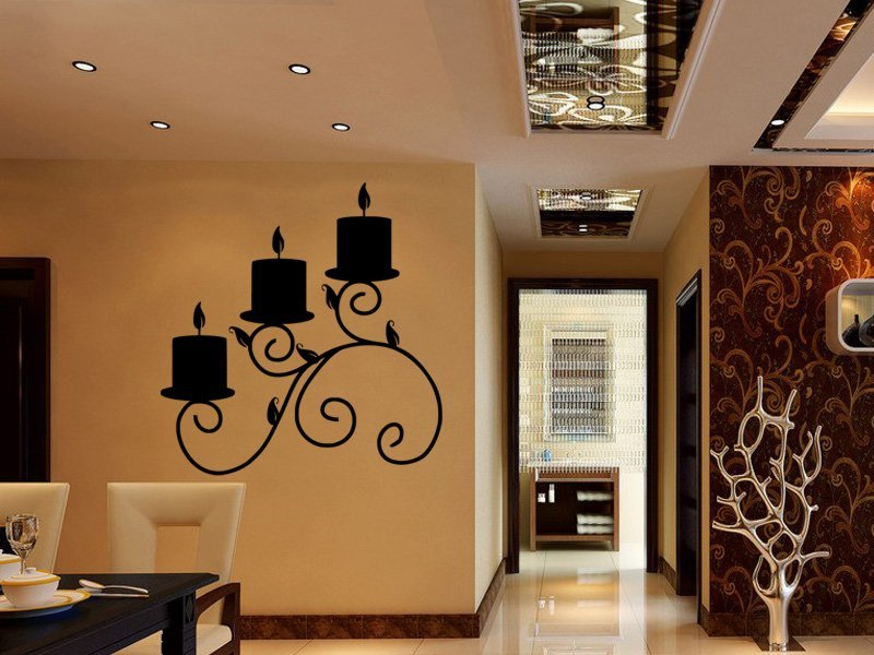Samolepky na zeď Svícen 0020 - Samolepící dekorace a nálepka na stěnu