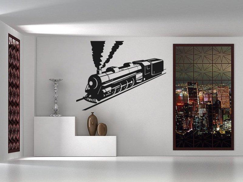 Samolepky na zeď Vlak 007 - Samolepící dekorace a nálepka na stěnu