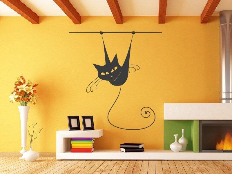 Samolepky na zeď Kočka 013 - Samolepící dekorace a nálepka na stěnu