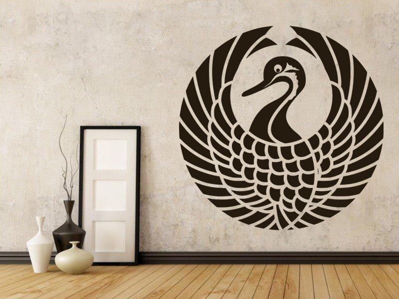 Samolepky na zeď Kachna 0197 - Samolepící dekorace a nálepka na stěnu