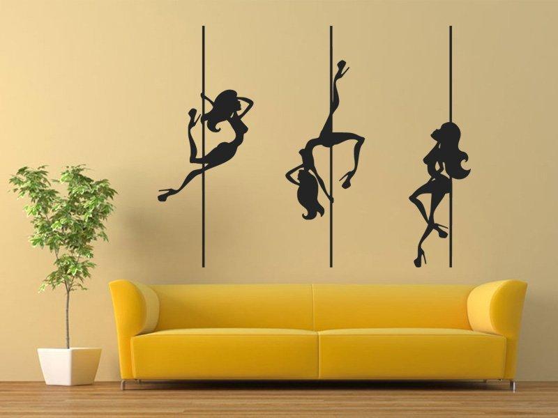 Samolepky na zeď Pole dance 0983 - Samolepící dekorace a nálepka na stěnu