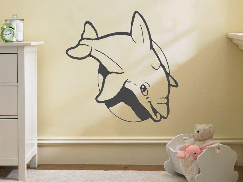 Samolepky na zeď Delfín 001 - Samolepící dekorace a nálepka na stěnu