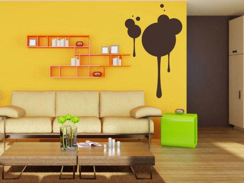 Samolepky na zeď Kruhy 004 - Samolepící dekorace a nálepka na stěnu