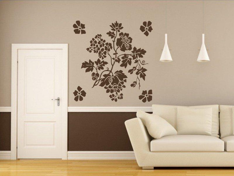 Samolepky na zeď Květiny 005 - Samolepící dekorace a nálepka na stěnu