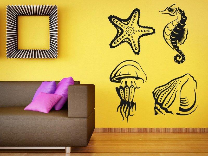 Samolepky na zeď Mořský život 001 - Samolepící dekorace a nálepka na stěnu