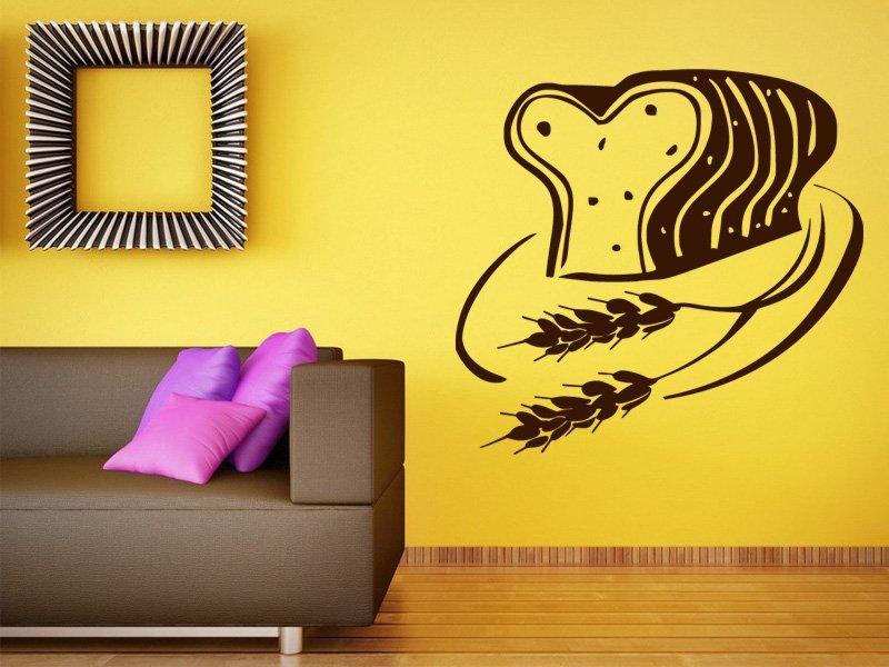 Samolepky na zeď Toastový chléb 0115 - Samolepící dekorace a nálepka na stěnu