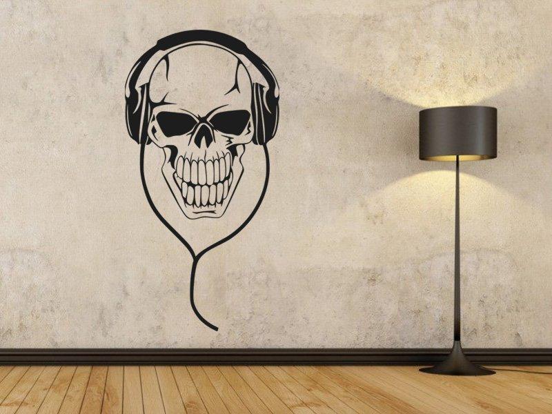 Samolepky na zeď Sluchátka 003 - Samolepící dekorace a nálepka na stěnu